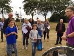 Feestelijke luchtballon vaart boven de regio Hoogland zaterdag 23 juni 2018