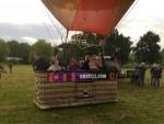 Plezierige ballon vlucht in de buurt van Veenendaal zaterdag 23 juni 2018