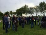Meesterlijke luchtballon vaart startlocatie Hoogland zaterdag 28 april 2018