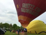 Plezierige heteluchtballonvaart gestart in Hoogland zaterdag 28 april 2018
