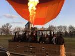Prettige ballon vaart vanaf startlocatie Tilburg op zaterdag 30 maart 2019