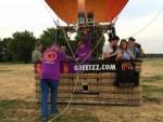 Te gekke luchtballon vaart boven de regio Maastricht zaterdag 4 augustus 2018