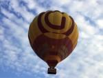Prettige luchtballon vaart vanaf opstijglocatie Gorinchem op zaterdag  6 oktober 2018