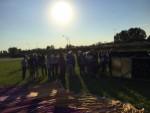 Hoogstaande luchtballonvaart boven de regio Veghel op zaterdag  6 oktober 2018