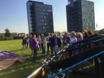 Overweldigende luchtballon vaart startlocatie Veghel op zaterdag  6 oktober 2018