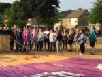 Comfortabele ballon vlucht opgestegen op opstijglocatie Uden zaterdag 7 juli 2018