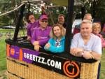 Te gekke ballonvaart opgestegen op startlocatie Oss op zaterdag  8 september 2018