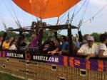 Hoogstaande ballon vlucht opgestegen in Beesd zaterdag  9 juni 2018