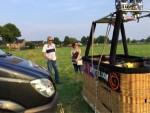 Relaxte luchtballon vaart opgestegen op startveld Nederweert zaterdag 9 juni 2018