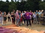 Hoogstaande heteluchtballonvaart omgeving Eindhoven op zondag 12 augustus 2018