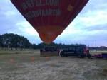 Hoogstaande ballon vlucht boven de regio Tilburg op zondag 12 augustus 2018