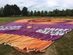 Ongeëvenaarde ballon vaart opgestegen op startlocatie Veenendaal op zondag 12 augustus 2018