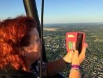 Exceptionele luchtballon vaart opgestegen op opstijglocatie Hengelo zondag 15 juli 2018