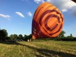 Fabuleuze ballon vlucht gestart op opstijglocatie Maastricht zondag 15 juli 2018