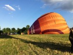 Professionele heteluchtballonvaart gestart op opstijglocatie Maastricht zondag 15 juli 2018