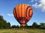 Professionele ballon vaart in de buurt van Maastricht zondag 15 juli 2018