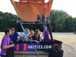 Unieke luchtballon vaart gestart in Tilburg zondag 15 juli 2018