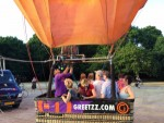 Formidabele heteluchtballonvaart in Tilburg zondag 15 juli 2018