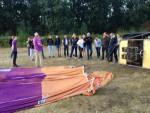 Hoogstaande ballon vlucht opgestegen op startlocatie Tilburg op zondag 19 augustus 2018