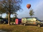 Waanzinnige luchtballonvaart opgestegen op opstijglocatie Tilburg op zondag 19 augustus 2018