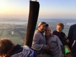 Plezierige luchtballon vaart opgestegen op startlocatie Joure op zondag 2 september 2018