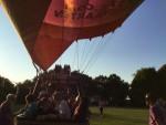 Hoogstaande ballon vaart in de regio Tilburg op zondag 2 september 2018