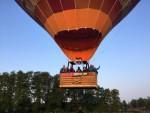 Jaloersmakende ballon vaart over de regio Enschede zondag 20 mei 2018
