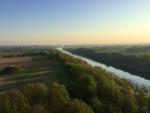 Exceptionele ballonvlucht opgestegen op opstijglocatie Maastricht op zondag 21 april 2019