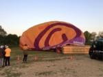 Jaloersmakende heteluchtballonvaart in de omgeving van Tilburg op zondag 21 april 2019