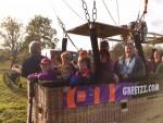 Bijzondere ballonvaart gestart op opstijglocatie Sprang-capelle op zondag 21 oktober 2018