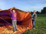 Betoverende luchtballon vaart in de buurt van Sprang-capelle op zondag 21 oktober 2018