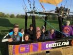 Plezierige ballon vaart gestart op opstijglocatie Sprang-capelle op zondag 21 oktober 2018