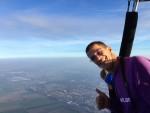 Waanzinnige ballon vlucht gestart in Sprang-capelle op zondag 21 oktober 2018