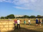 Schitterende heteluchtballonvaart opgestegen op startveld Hendrik-ido-ambacht zondag 22 juli 2018