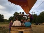 Plezierige heteluchtballonvaart regio Maastricht zondag 22 juli 2018
