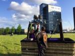 Formidabele ballon vlucht opgestegen op startlocatie Veghel op zondag 28 april 2019
