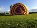 Ultieme luchtballon vaart opgestegen op startlocatie Veghel op zondag 28 april 2019
