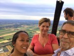Hoogstaande luchtballon vaart in de omgeving Ommen zondag 29 juli 2018