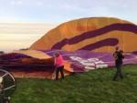 Verbluffende luchtballon vaart vanaf opstijglocatie Joure op zondag 30 september 2018