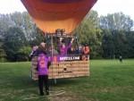 Prettige luchtballon vaart vanaf startlocatie Sittard op zondag 30 september 2018