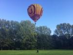 Prettige luchtballonvaart opgestegen op startveld Sittard op zondag 30 september 2018