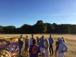 Relaxte ballon vaart boven de regio Nijmegen zondag  5 augustus 2018