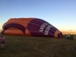 Perfecte ballonvaart opgestegen op startveld Zwolle zondag  5 augustus 2018