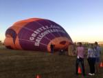 Sublieme luchtballon vaart in de buurt van Zwolle zondag  5 augustus 2018