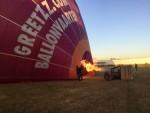 Uitmuntende ballonvlucht gestart in Zwolle zondag  5 augustus 2018
