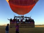 Ultieme luchtballon vaart opgestegen op startveld Zwolle zondag  5 augustus 2018
