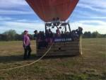 Formidabele luchtballon vaart vanaf startlocatie Horst op zondag  7 oktober 2018