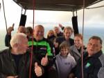 Te gekke ballonvlucht in de omgeving Ommen op zondag  7 oktober 2018