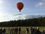 Prettige luchtballon vaart in de omgeving van Ommen op zondag  7 oktober 2018