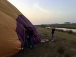 Formidabele heteluchtballonvaart opgestegen op opstijglocatie Joure zondag  8 april 2018